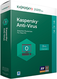 Kaspersky Antivirus 2017 - 3 users + 1 Free for 1 year